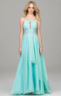 Dresses #Mint Chiffon Long Dress #Prom Dress Prom Dresses