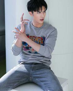 Hi babe 😍😂 💕 Asian Men Long Hair, Sexy Asian Men, Asian Boys, Asian Celebrities, Asian Actors, Celebs, Kdrama, Chinese Gender, Ahn Jae Hyun