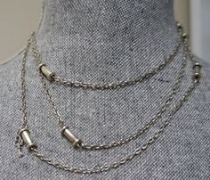 50 Extra Long Necklace wtih Bullet Links Made in Canada by Links & Locks, $20.00