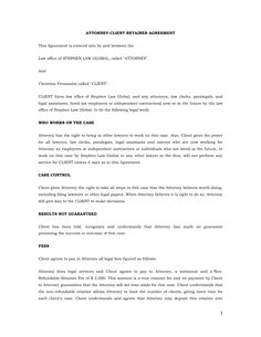 Divorce Attorney Client Retainer Agreement Letter Sample by ...