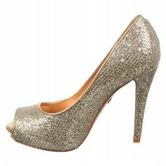 BADGLEY MISCHKA WOMEN'S HUMBIE II PUMP,GOLD GLITTER,7 M US  - Click image twice for more info - See a larger selection of bridal shoes at   http://zweddingsupply.com/product-category/bridal-shoes/ - woman , wedding , wedding fashion, wedding style, wedding ideas, woman fashion, shoes.