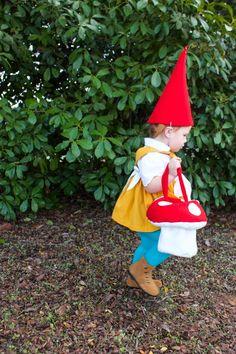 Garden Gnome Costume-One Little Minute Garden Gnome Halloween Costume, Baby Gnome Costume, Baby Halloween Costumes For Boys, Scary Costumes, Halloween Kids, Halloween 2018, Toddler Girl Halloween, Gnome Garden, Gardens