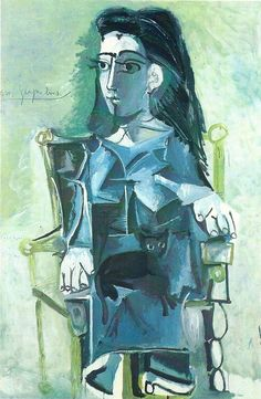 By Pablo Picasso this picture uses shape like squares to form a womens body its weird but looks real -Ibrahim Art 6/04
