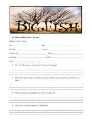 English teaching worksheets: Big Fish