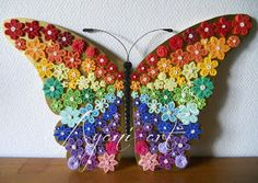 Quilled rainbow butterfly
