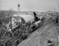 FEBRUARY 4, 1954 MAIN LINE DERAILMENT BETWEEN FLORAL PARK AND NEW HYDE PARK - LONG ISLAND RAIL ROAD HISTORY, Online Museum of Long Island Rail Road and Photo Gallery