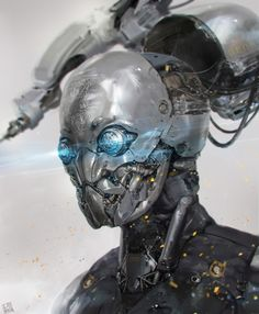 Sci-fi Art Long Ouyang Bot Head