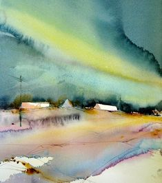 Björn Bernström is a Swedish Watercolor Artist dedicated to watercolors since 20 years. Based in Stockholm, Sweden as an artist and watercolor instructor. Watercolor painter and watercolor instructor. Watercolor Artists, Watercolor Techniques, Watercolor Landscape, Abstract Watercolor, Watercolor And Ink, Abstract Landscape, Watercolour Painting, Painting & Drawing, Landscape Paintings