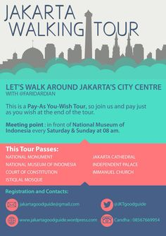 This is Jakarta Walking Tour - City Centre.  Feel free to ask any questions or register yourself at the contacts mentioned. #jakarta #tour