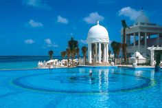 Swimming pool at Riu Palace Las Americas in Cancun Mexico.
