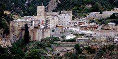 The monastery of Saint Paul - Mount Athos Spiritual Enlightenment, World Heritage Sites, Natural Beauty, Macedonia Greece, Saints, Visit Greece, Europe, Explore, Mansions