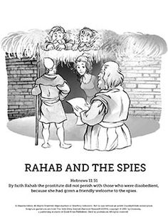 Joshua 2 The Story Of Rahab Sunday School Coloring Pages Has