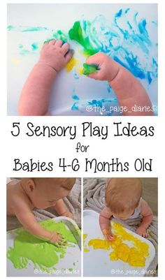 Samuel turned six months yesterday (umm… where did that time go??!) and just loves to explore! Sensory play is a great way for him to learn about the world around him and seeing as this week's t