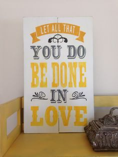 Let all that you do be done in love pallet sign Quote wood sign by CraftCrazedMom on Etsy