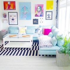 """Amina Mucciolo no Instagram: """"What are some of your favorite accounts for colorful #homedecor inspiration? Loving this pretty #pastel room from @funkis_hjem """""""
