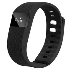 Waterproof Bluetooth 40 Smart Bracelet Sports Fitness Activity Tracker Pedometer Bracelet Watch for Samsung AndroidiPhone IOS ** Read more reviews of the product by visiting the link on the image.