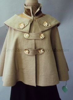 Cape with Carved Buttons, American, 1904-1905.