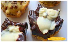 Eulen - Muffins aus feinem Schokoflocken-Rührteig! www.rezepte-glutenfrei.de