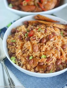 African Spicy Rice and Beans - flavored with onions, thyme, smoked paprika and garlic. Vegan and gluten free.