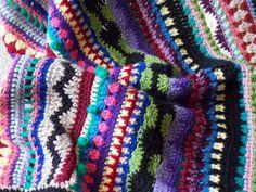 💖 Esperança Afegão Cobertor Multi-Colorido Crochê -  /  💖  Afghan Hope Blanket Multi-Coloured Crocheted -