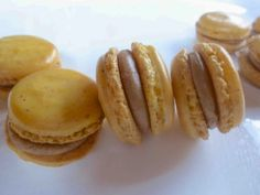 Diary of a Mad Hausfrau: Macaron Monday: Banana French Macarons with Espresso Rum Filling