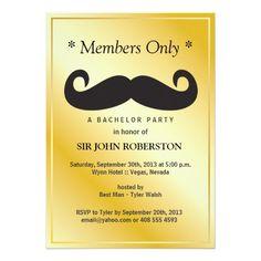 Members Only Bachelor Party 5x7 Paper Invitation Card http://www.zazzle.com/members_only_bachelor_party_invitation-161602783508398981?utm_content=buffer300e4&utm_medium=social&utm_source=pinterest.com&utm_campaign=buffer #invitations #membersonly #enjoyablegift