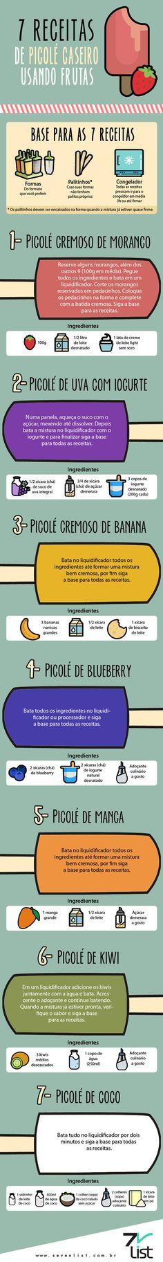 7 receitas de picolé caseiro usando frutas