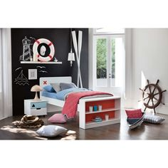 Junior Options Bed Frame with Bookcase | Domayne Online Store