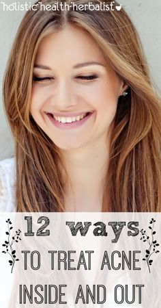Learn how to treat acne inside and out with chemical free ingredients that unclog pores, balance sebum, and beautify the skin while living healthy! #acne #skincare
