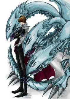 Seto Kiba and Blue eyes white dragon