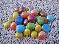 Tropical Mix Mosaic Glass Gems Iridized Glass Gems to go with clay pot