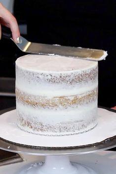 Inch Cake Recipe: Small Vanilla Layer Cake With Buttercream Frosting - . 6 Inch Cake Recipe: Small Vanilla Layer Cake With Buttercream Frosting - Inch Cake Recipe: Small Vanilla Layer Cake With Buttercream Frosting - . Smash Cake Recipes, Layer Cake Recipes, Frosting Recipes, Layer Cakes, Food Cakes, Big Cakes, Bolo Nake Cake, Cupcakes, Cupcake Cakes