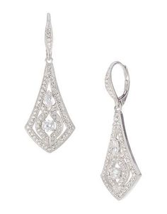 Lord and Taylor ~ NADRI Cubic Zirconia Drop Earrings