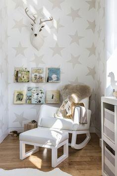 So eine schöne Tapete für ein Kinderzimmer. Gefällt mir sehr gut dieser Stil
