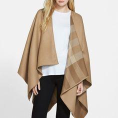 Rank & Style - Burberry Reversible Merino Wool Ruana #rankandstyle
