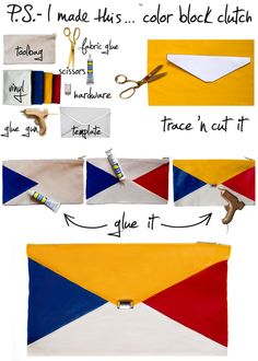 Color Block Clutch | 12 Perfectly Summery DIY Projects To Try Right Now
