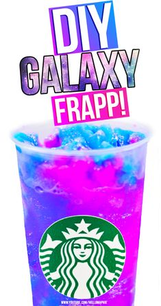 Make your very own STARBUCKS GALAXY DRINK - DIY Starbucks Vanilla Bean Frappuccino GALAXY style! Super easy to recreate, PERFECT SUMMER RECIPE! DIY Galaxy https://youtu.be/4xefJbVmixY