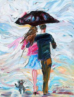 Karen Tarlton / Romantic Couple Custom Original Oil Painting