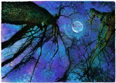 Winter Moon  by Dahlia House Art Studio Gallery