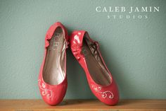 Wedding Day shoes - Red - Classy - Flats
