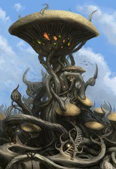 Tel Naga by Swietopelk on DeviantArt Elder Scrolls Morrowind, Elder Scrolls Skyrim, Elder Scrolls Games, Elder Scrolls Online, Fantasy Rpg, Fantasy World, Dark Souls Art, Fantasy Places, Dragon
