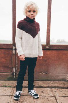 Sweater Colourblock - Lou and Blue Kids Wear, Children Wear, Kid Styles, Red And White, Men Sweater, Turtle Neck, Boys, Girls, Unisex
