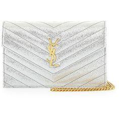 saint handbag - Saint Laurent Monogram Matelasse Leather Chain Wallet (��860 ...