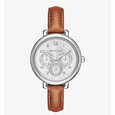 01c4416bf40 Authentic Michael Kors Leather Watch Brown Leather, Smooth Leather, Michael  Kors Jewelry, Michael