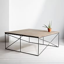 Walnut and steel side table - made by Lamon Luther in Georgia, available @westelm