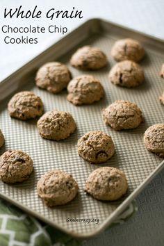 Guilt Free Whole Grain Chocolate Chip Cookies | Grain Crazy