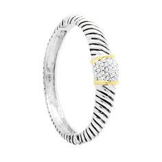 MODELO: B-MXPU1091 PZA: Pulsera DESCRIPCION: Pulsera con baño de rodio y oro, con incrustaciones de zirconias blancas. #joyería #pulsera #fashion #followus #bracelet.