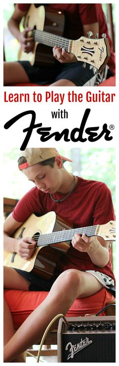 Learning to play the guitar has never been easier! See how I've giving my teen the ability to learn a new skill with help from #FenderPlay! #ad #CLVR
