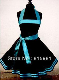 2013 Halter Black Teal Ribbon 50's 60's Rockabilly Dress PIN UP Swing DRESS Lace up back XS S M L XL XXL 3XL 4XL-in Dresses from Apparel & Accessories on Aliexpress.com Black and light blue