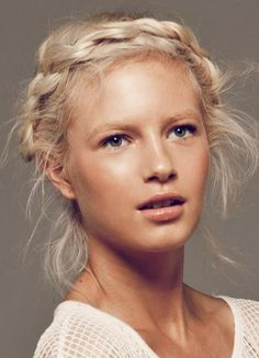 scandinavian woman. Love this blonde color